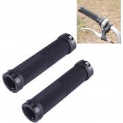 OQsport 2 Pcs Bicicleta Empuñaduras Bloqueo Bilateral Directo Barril Bicicletas MTB Antideslizante Apretones De Manillar (negro)