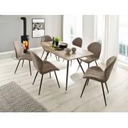 MCA Furniture MCA 4 Fuß Stuhl Lima (2erSet) sand