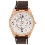 Scheffer's Cream Dial Analog Watch For Men - SC-CRM-S-7015