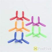 Generic Orange : 10Pairs/Lot Mini 4045 3 Blade Propellers 4 Inch CW CCW Colorful Balance Props for Mini Drone Through FPV Quadcopter