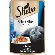 Котешка храна Sheba Cuisine Pouch риба тон, 6 броя х 85 г