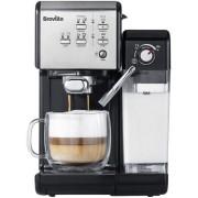 Espressor Breville Prima Latte II VCF108X-01, 1.5L, 19 bari, Recipient lapte 600ml (Argintiu/Negru)