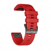 Curea silicon Tech-Protect Smooth Garmin Fenix 5/6/6 Pro Red