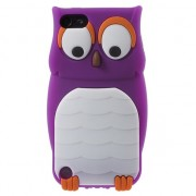 Paarse uil 3D silicone iPod Touch 5 6 hoesje