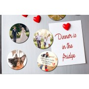 36 Personalised Round Photo Magnets