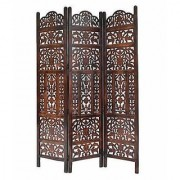 Shilpi Handicrafts Wooden Partition Leaf Design Decor Room Divider Screen Panel (3)