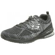 Skechers Sport Women s Skech Air Infinity Fashion Sneaker Black Silver 10 B(M) US