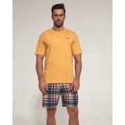Cornette 326/91 Alex pánské pyžamo XL medová