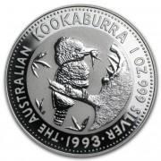 Kookaburra Stříbrná mince 1 AUD Australian Ledňáček 1 Oz 1993