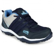 LOOK & HOOK JAISCO MENS NAVY BLUE LACE UP OUTDOOR SPORT SHOES