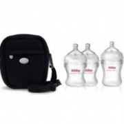Промо комплект Nuby - термо чанта + подарък 3 бр. силиконови шишета, 262352