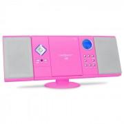 OneConcept V-12 Stereoanläggning MP3-CD-spelare rosa USB SD