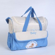 Large-capacity Multi-function Mother & Baby Shoulder Bag Handbag - Baby Blue