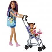 Barbie Muñeca Skipper hermana de Barbie, niñera de paseo