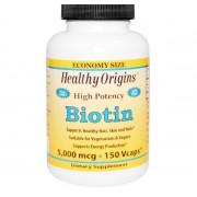 Biotine, Hoge Dosering, 5000 mcg (150 vegetarische capsules) - Healthy Origins