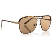 DE RENE Round Sunglasses(Brown)