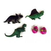 Dinosaur Triceratops Big Egg Bundle 3 Toy Dinosaurs 2 Clade-Gravim Growing Hatching Eggs