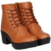 Clymb Boot 1 Tan Leather Ankle Boots For Women's In Various Sizes