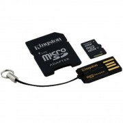 Micro SD Card, 64GB, KINGSTON Mobility Kit, Class 10, 1xAdapter with USB Reader (MBLY10G2/64GB)