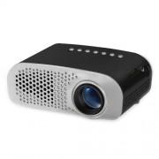 GP802A 100 Lumens Double HDMI HD Mini Projector for Home Theater / School(Black)