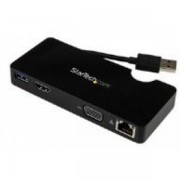 Startech Universal Usb 3.0 Laptop Mini Docking Station With Hdmi Or Vg
