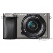 Sony Alpha 6000 fotoaparat kit (16-50mm objektiv), grafit siva (ILCE6000)