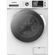Masina de spalat rufe cu uscator Heinner HWDM-8614B, Spalare 8 kg, Uscare 6 kg 1400 RPM, Clasa B, Display LCD, 60 cm, Alb