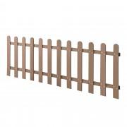 [neu.holz]® Ограда от WPC, дърво-пластмаса композит, 200 x 60 cm , Кафява