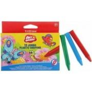 Set 12 creioane colorate din plastic ErichKrause Multicolor