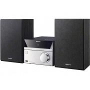 Sony CMT-SBT20B Stereoset AUX, Bluetooth, CD, DAB+, NFC, FM, USB 12 W Zwart, Zilver
