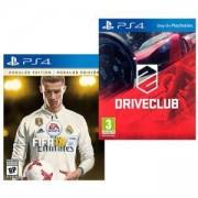 Игра FIFA 18 Ronaldo edition за Playstation 4 + Игра DRIVECLUB PS4