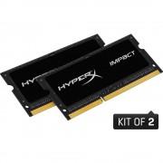 Set radna memorija za prijenosno računalo HX316LS9IBK2/16 Kingston IMPACT Black 16 GB 2 x 8 GB DDR3L-RAM 1600 MHz CL9 9-9-33