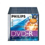 Philips DVD-R Philips 4.7GB 16X Slim Case 10