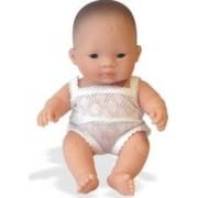 Papusa bebelus fetita asiatica Miniland 21 cm