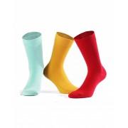 Wola Pánské ponožky Wola Perfect Man W 94.N03 odstín žluté 45-47