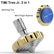 TiMi Tree Jr. Pro Brass Spinning Top Fidget Spinner Metal Toy With Stainless Steel Ball Bearing New Design 2 In 1 Novelty Focus Toy For ADHD ADD in 2017 (Jr. Blue)