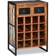 Wijnrek - Voor 16 flessen - Massief gerecycled - hout