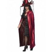 Vegaoo Roze-zwarte omkeerbare cape voor volwassenen One Size