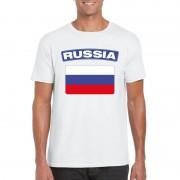Bellatio Decorations Russische vlag shirt wit heren