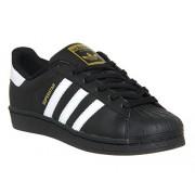 adidas Superstar Athletic Shoe Mens/Women (7, BLACK)