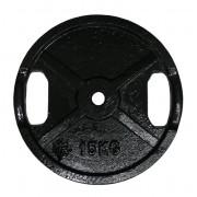 Posilňovací kotúč liatina 15 kg 25 mm s ručnými úchopmi