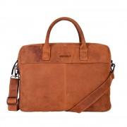 DSTRCT Wall Street Business Laptop Bag Cognac 13-15 inch