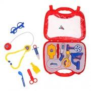 Magideal Hospital Medical Kit Preschool Kids Doctor Nurse Pretend Play Toys Red