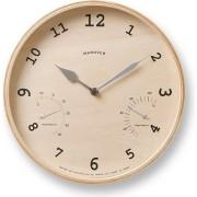 Lemnos Zegar ścienny Baum 25,4 cm z higrometrem i termometrem