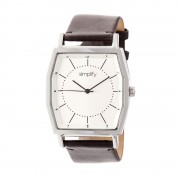Simplify The 5400 Leather-Band Watch - Silver/Dark Brown SIM5402