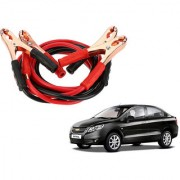 Auto Addict Premium Quality Car 500 Amp Heavy Duty Copper Core Tangle Battery Booster Cable 7.5 Ft For Chevrolet Sail