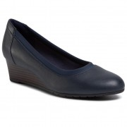 Обувки CLARKS - Mallory Berry 261453334 Navy Leather