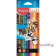 """Színes ceruza készlet 12db-os MAPED """"Color Peps Animal"""" háromszögletű"""