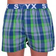 Styx Pánské trenky Styx sportovní guma vícebarevné (B635) S