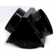 Adaptor metalic pt distributie aer cald, 2 iesiri, diametru 300mm, EC55, Calore